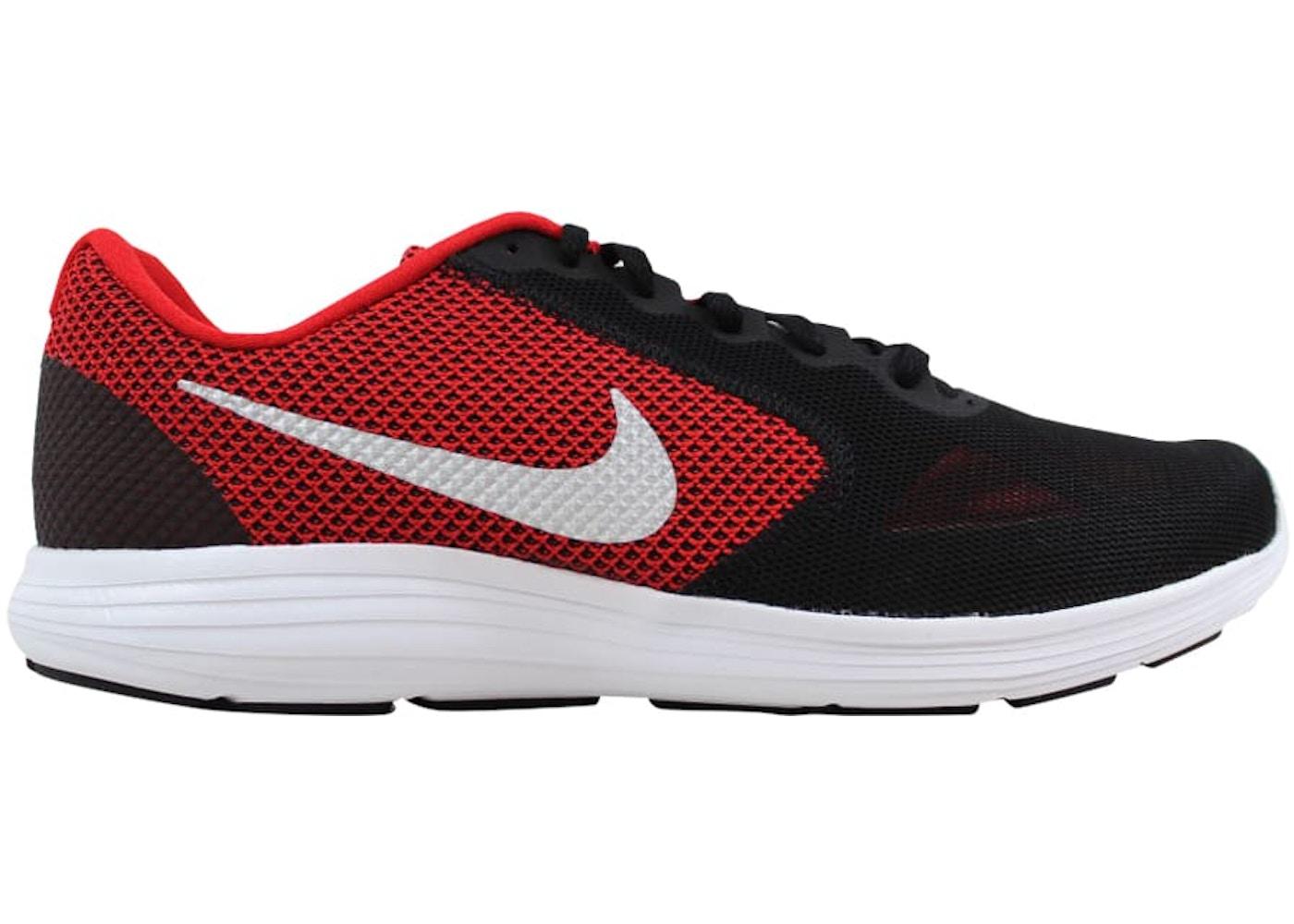 moins cher 49e59 7244d Nike Revolution 3 University Red/Metallic Silver