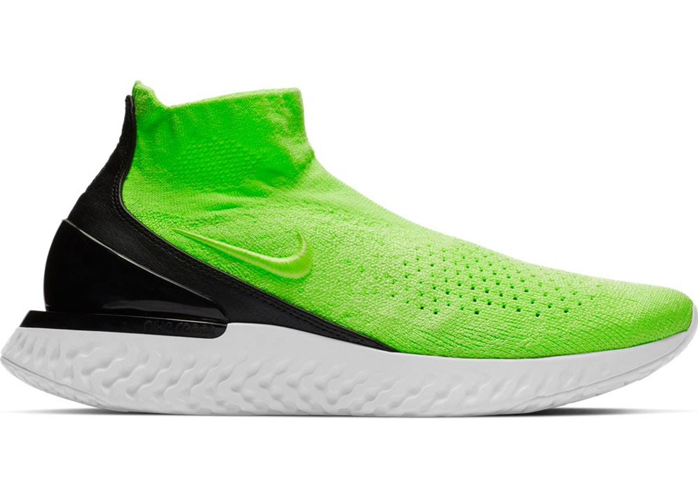 lowest price 188ab 67d04 Nike Rise React Flyknit Lime Blast