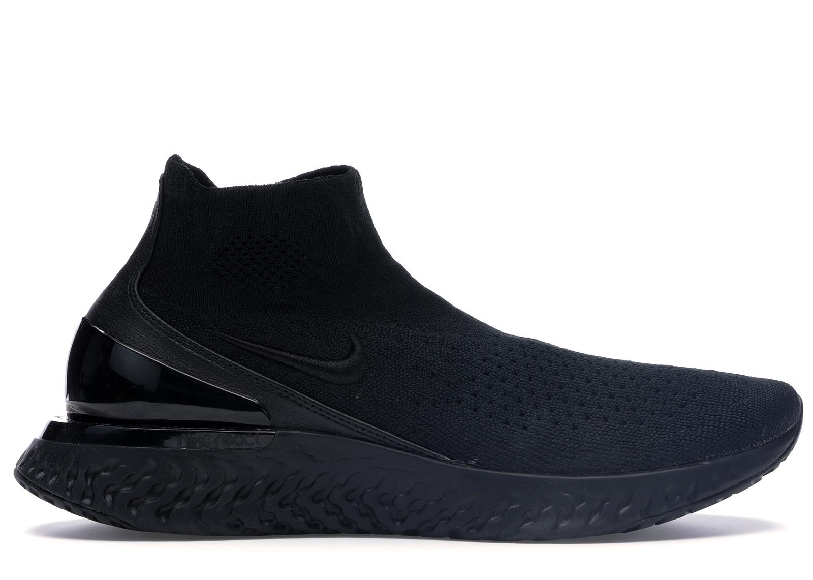 React Nike Flyknit Black Triple Rise AV5554 003 lK1TJFc