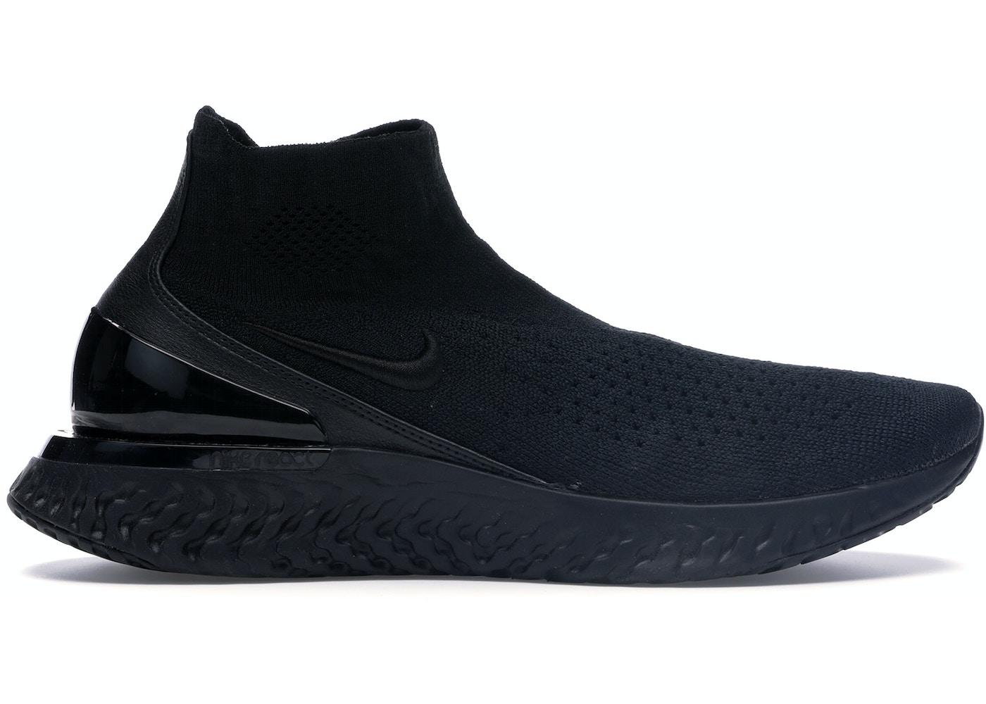 5fa7c5d2 Nike Rise React Flyknit Triple Black - AV5554-003
