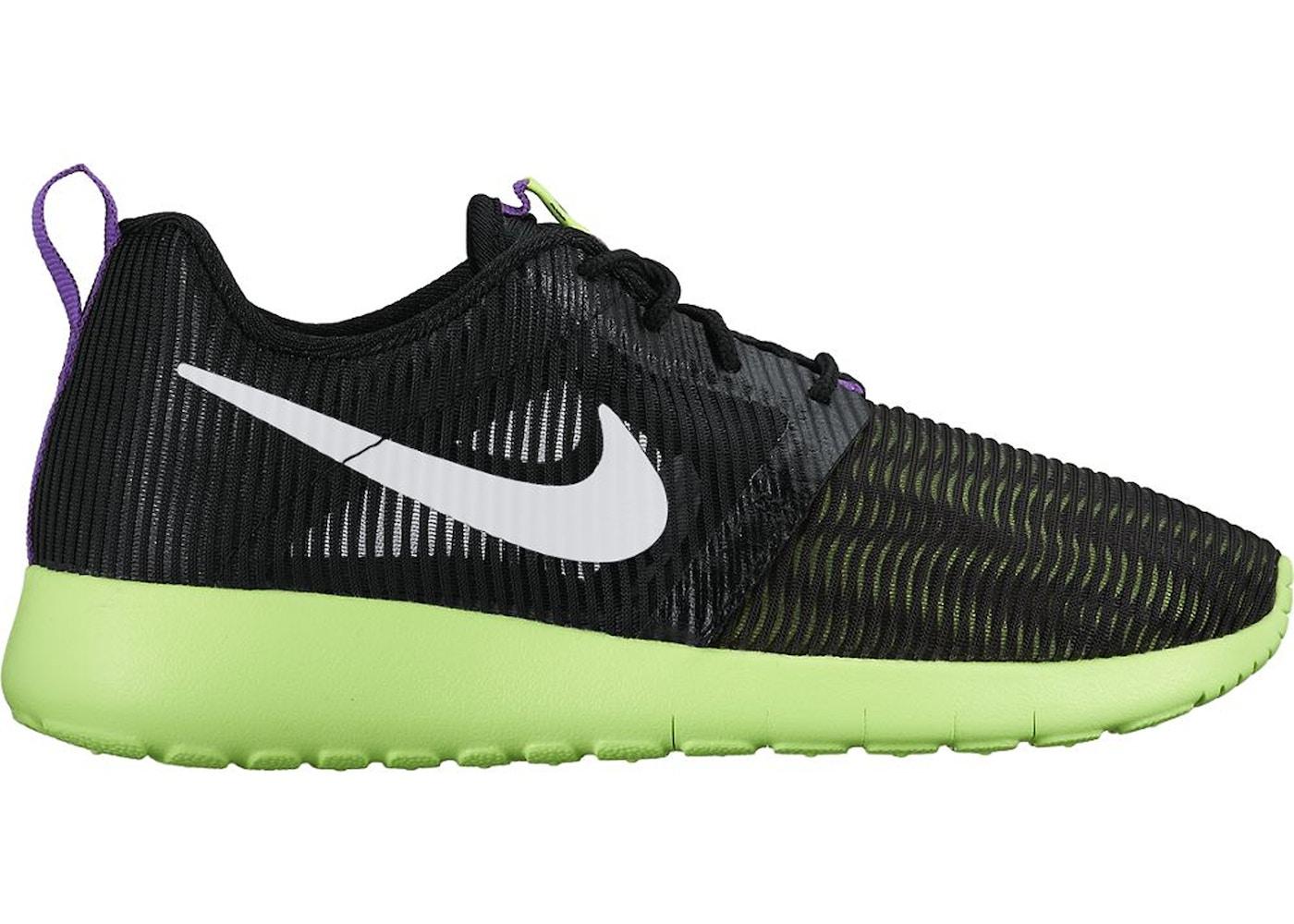 super popular 323ad 05d5e Nike Roshe One Flight Weight Black Ghost Green (GS) - 705486-003