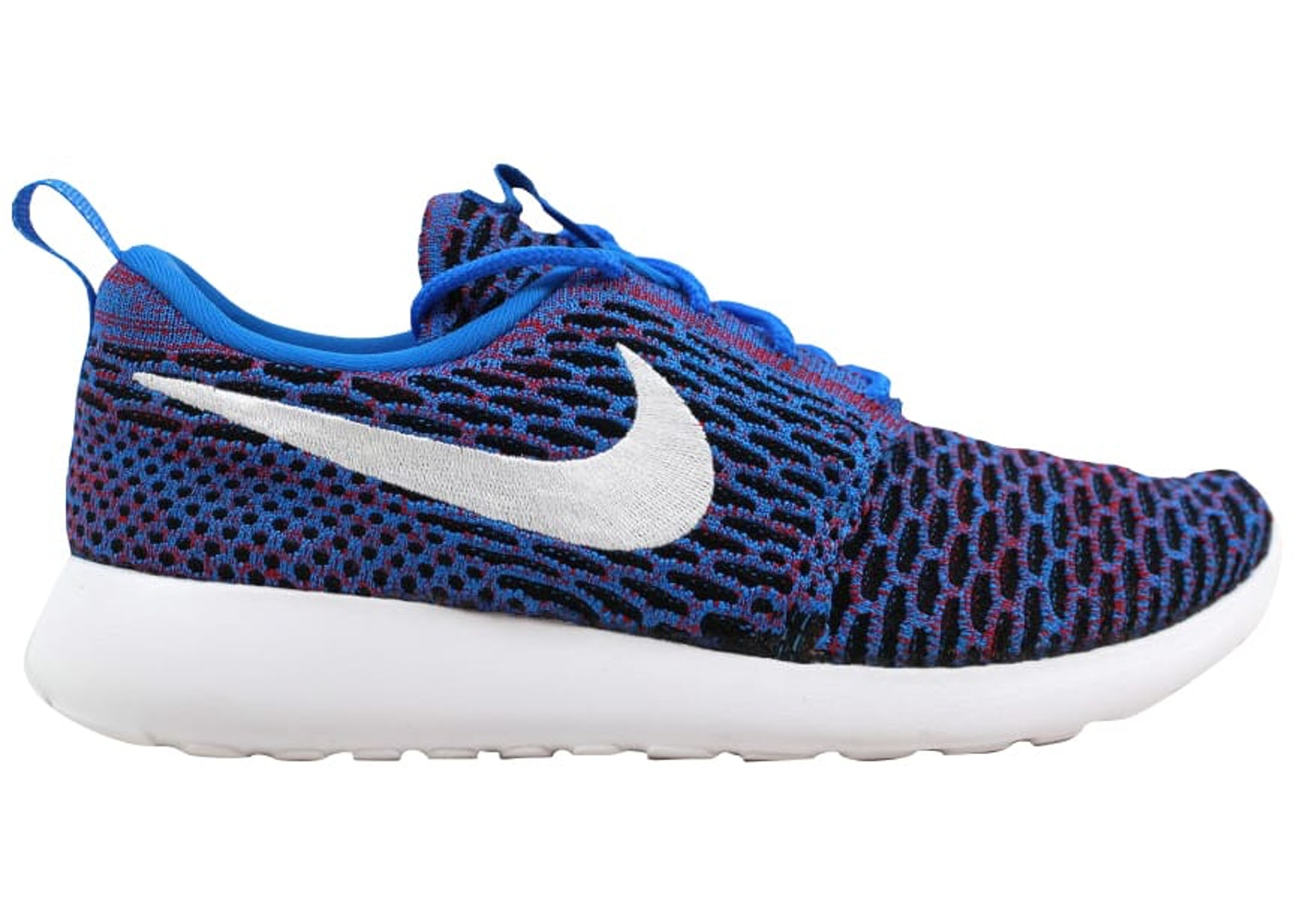 outlet store ae751 a2918 Nike Roshe One Flyknit Photo Blue/White-University Red-Black (W)