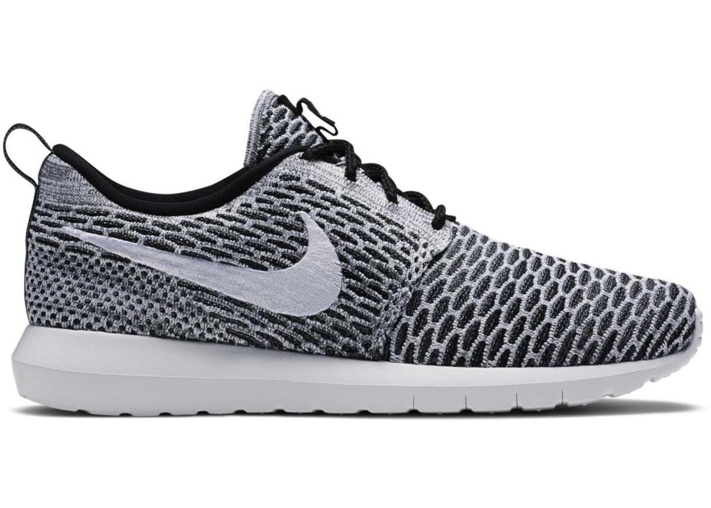 brand new 35a21 e6566 Sell. or Ask. Size  10. View All Bids. Nike Roshe Run Flyknit Black White
