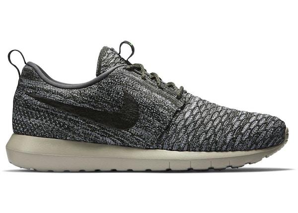 35232254701 Nike Roshe Run Flyknit Wolf Grey - 677243-007