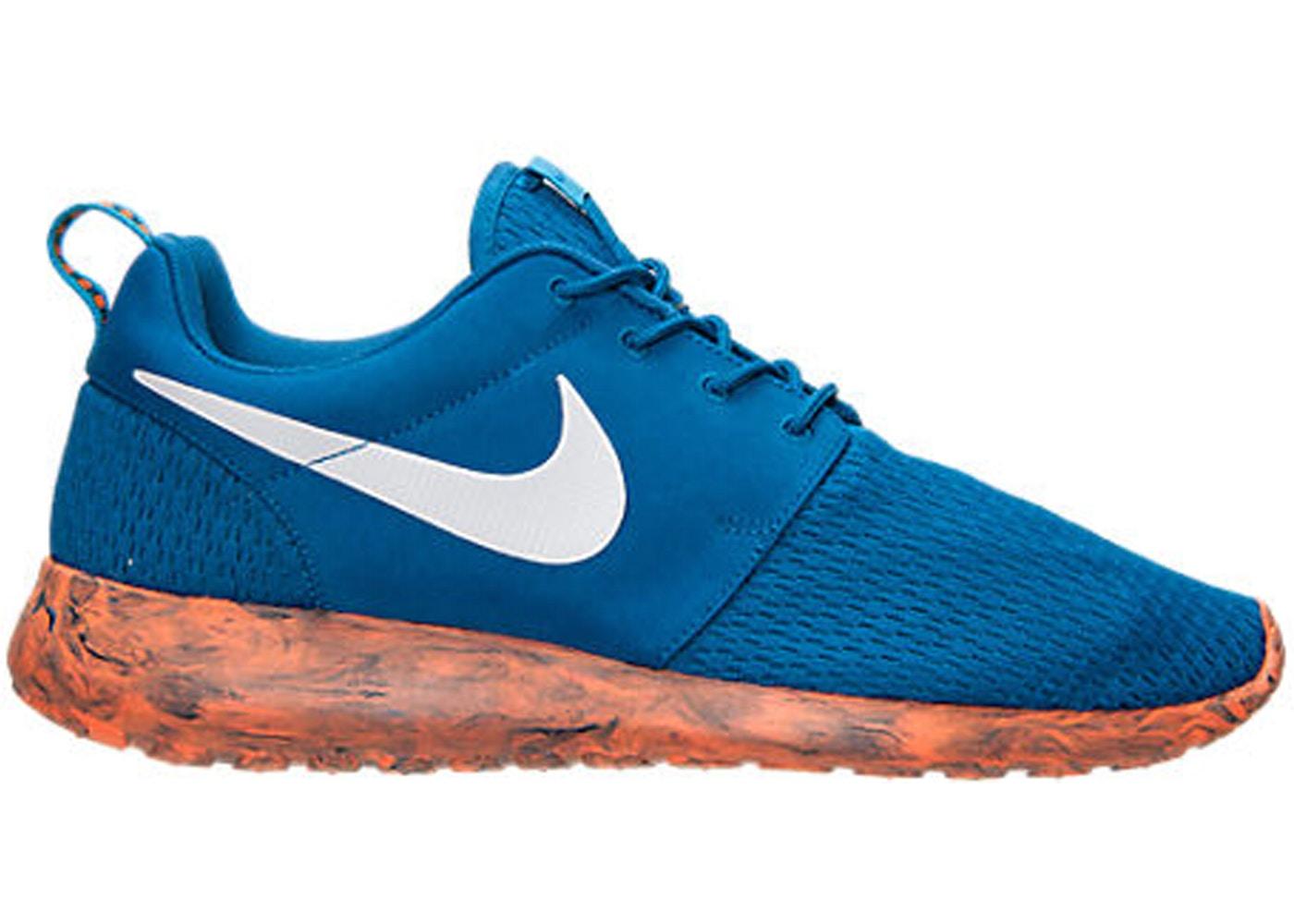 Hacer las tareas domésticas Exclusivo mucho  Nike Roshe Run Marble Military Blue Orange - 669985-400