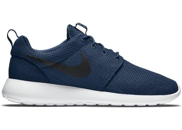 super popular 1413b 78414 Nike Roshe Run Navy Black White - 511881-405
