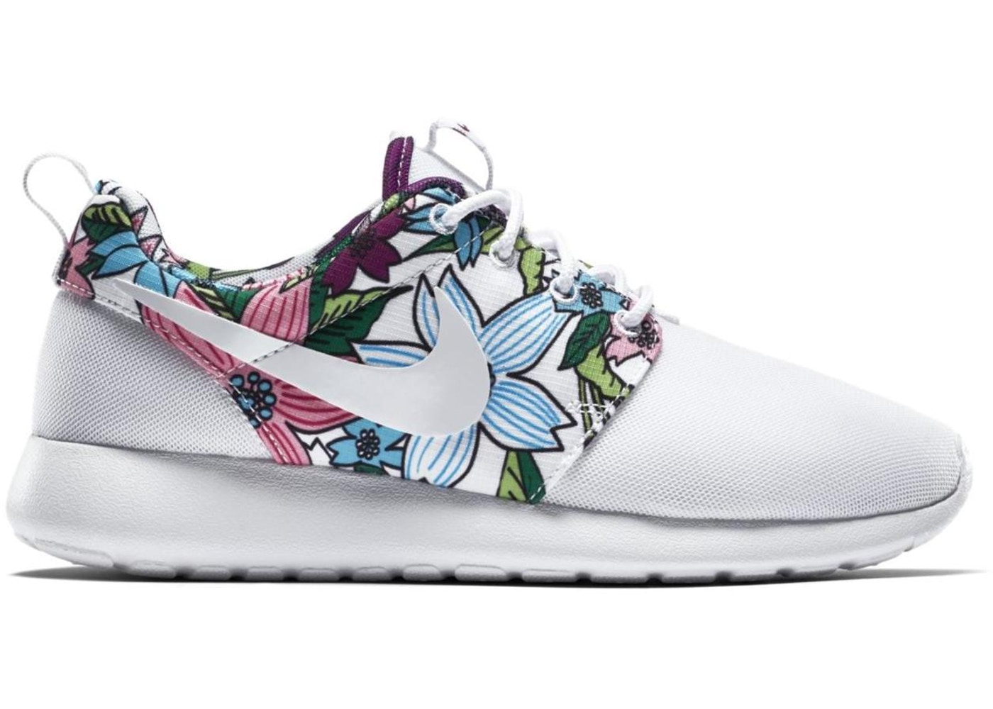 65d34d544220 Sell. or Ask. Size  11Y. View All Bids. Nike Roshe Run White Floral Aloha  ...