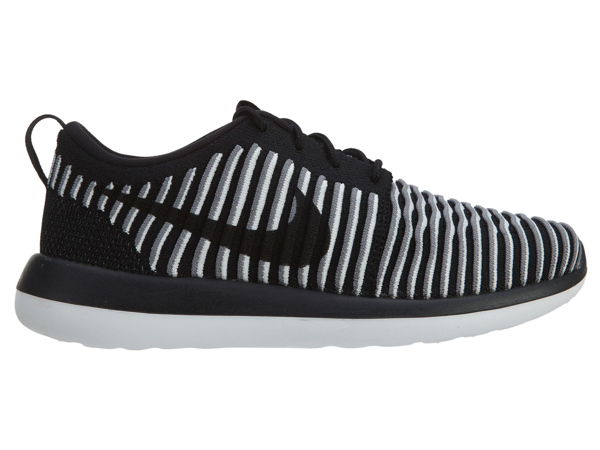 Nike Roshe Two Flyknit Black Black White (W)