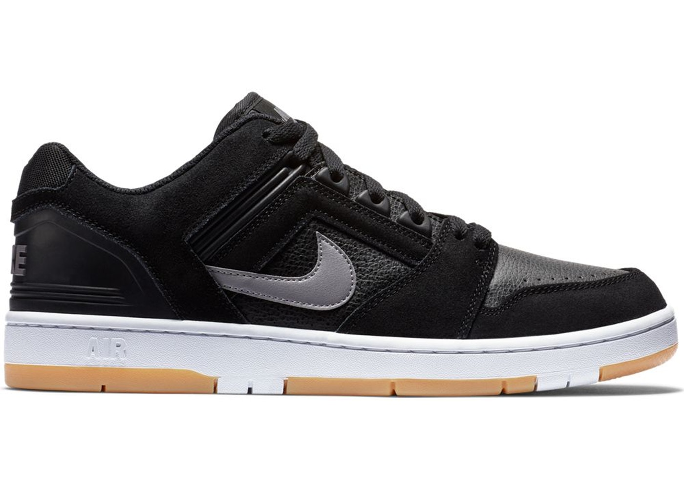 Nike SB Air Force 2 Low Black Grey Gum AO0300 001