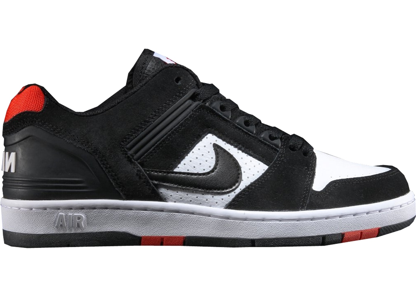 best loved f0e0a 06301 Nike SB Air Force 2 Low Black White Habanero Red - AO0300-006