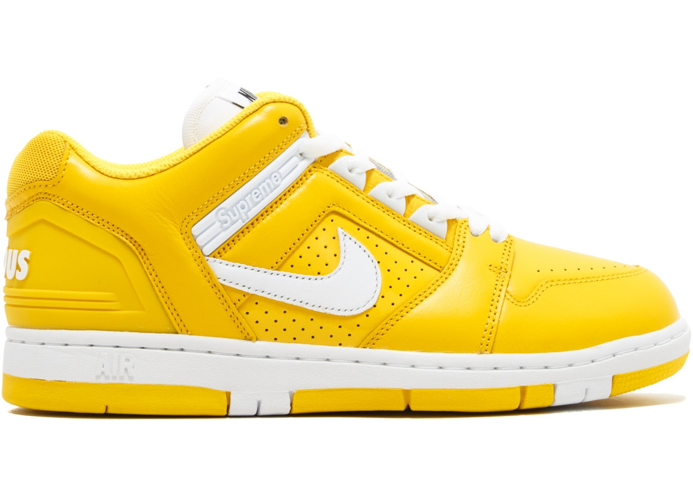 8563ea9487be Nike SB Air Force 2 Low Supreme Yellow - AA0871-717