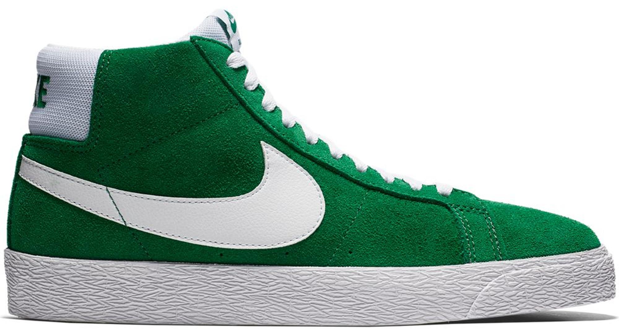 nike blazer white and green