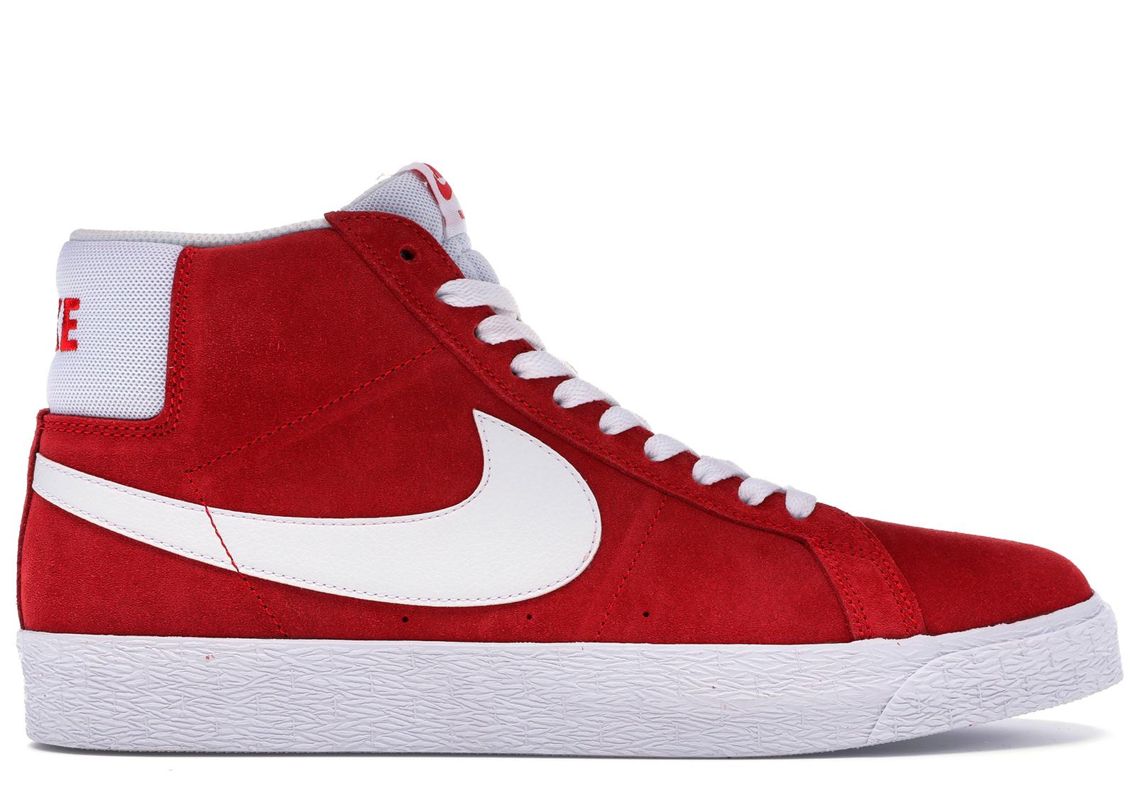 Nike SB Blazer Mid Red Suede (2017