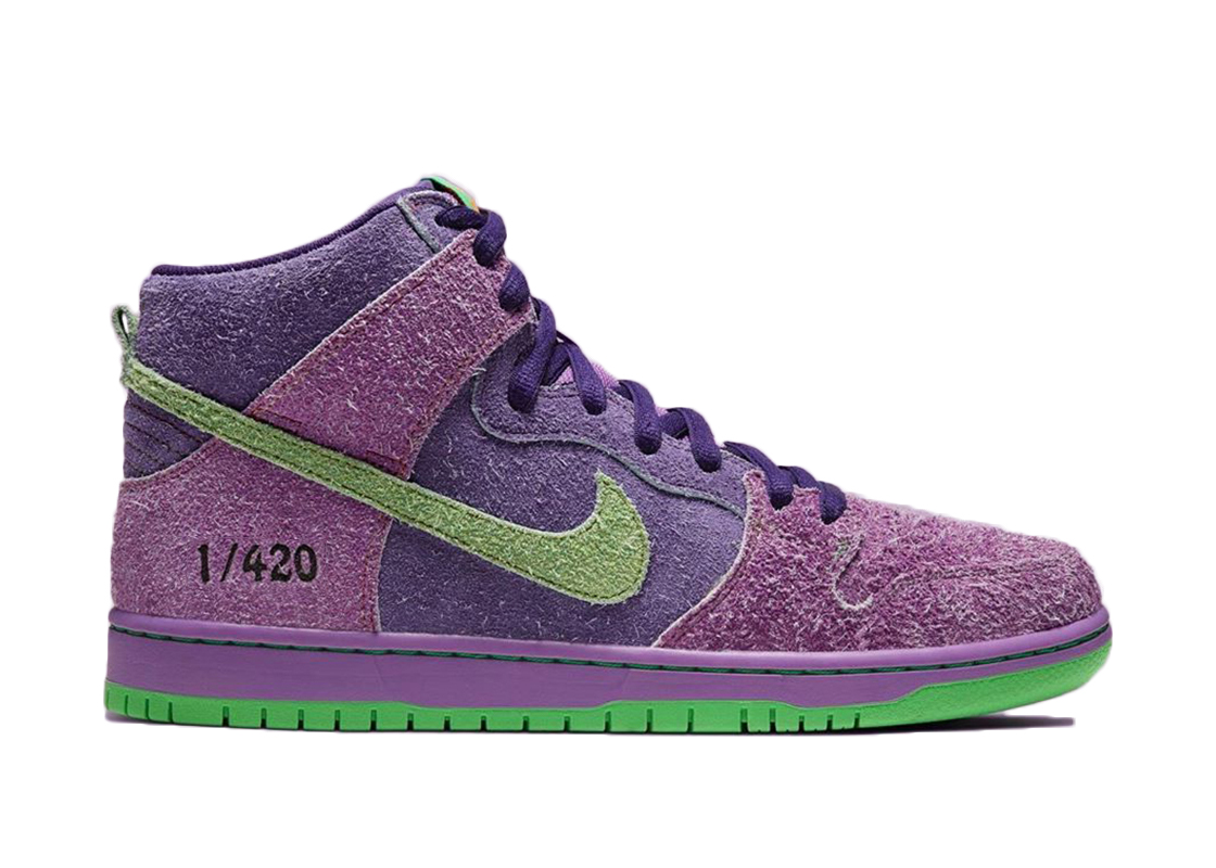 Nike SB Dunk High 420 Reverse Skunk