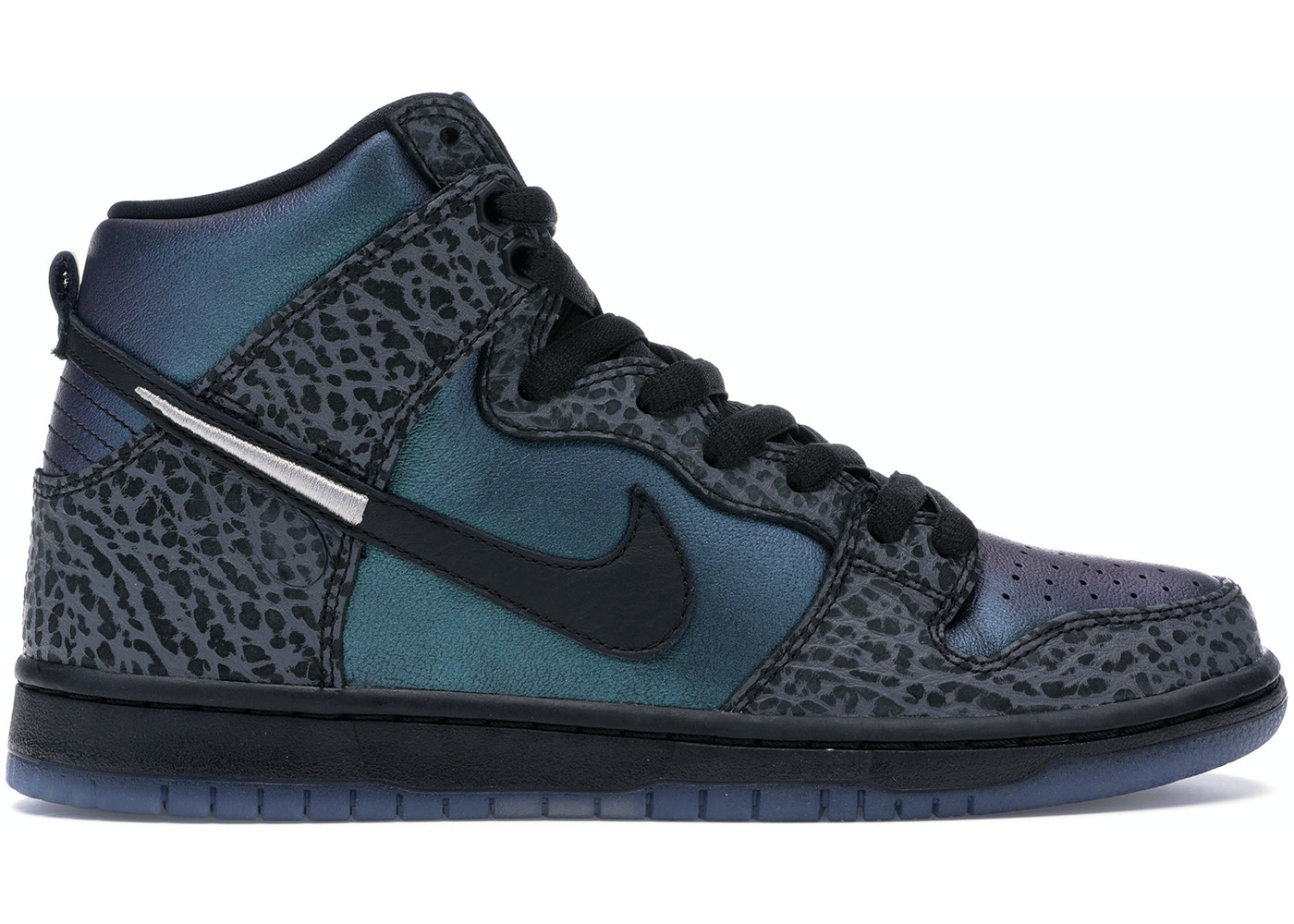 black and blue dunks