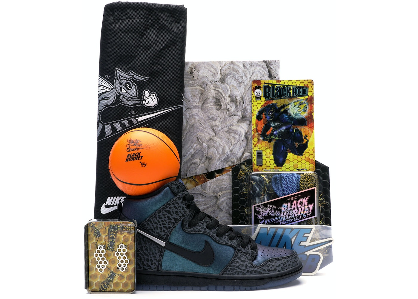 Nike SB Dunk High Black Sheep Hornet (Special Packaging) - BQ6827 001 21cab4aad