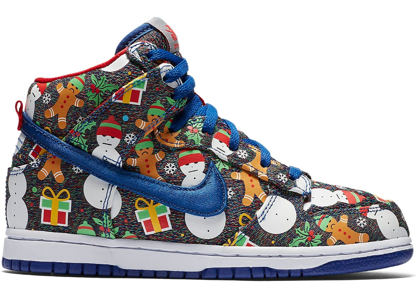Nike SB Dunk High Concepts Ugly Christmas Sweater 2017 (PS) - AO1557-446
