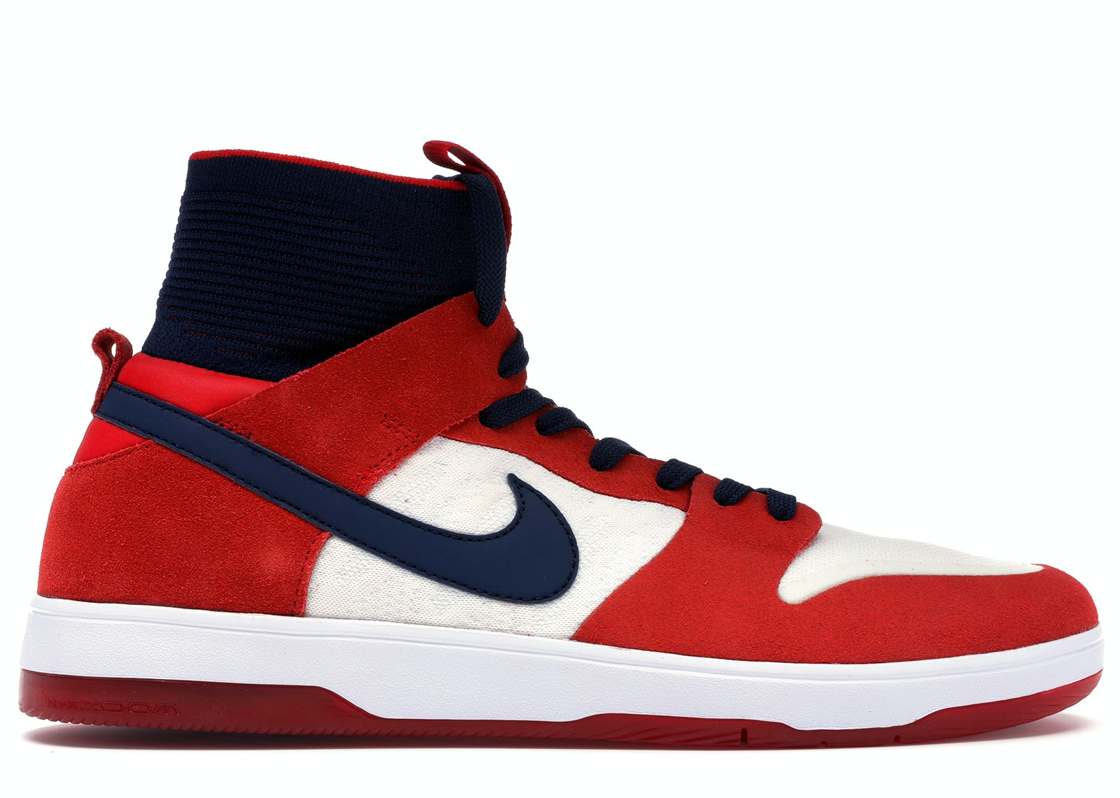 Nike SB Dunk High Elite Red Navy White