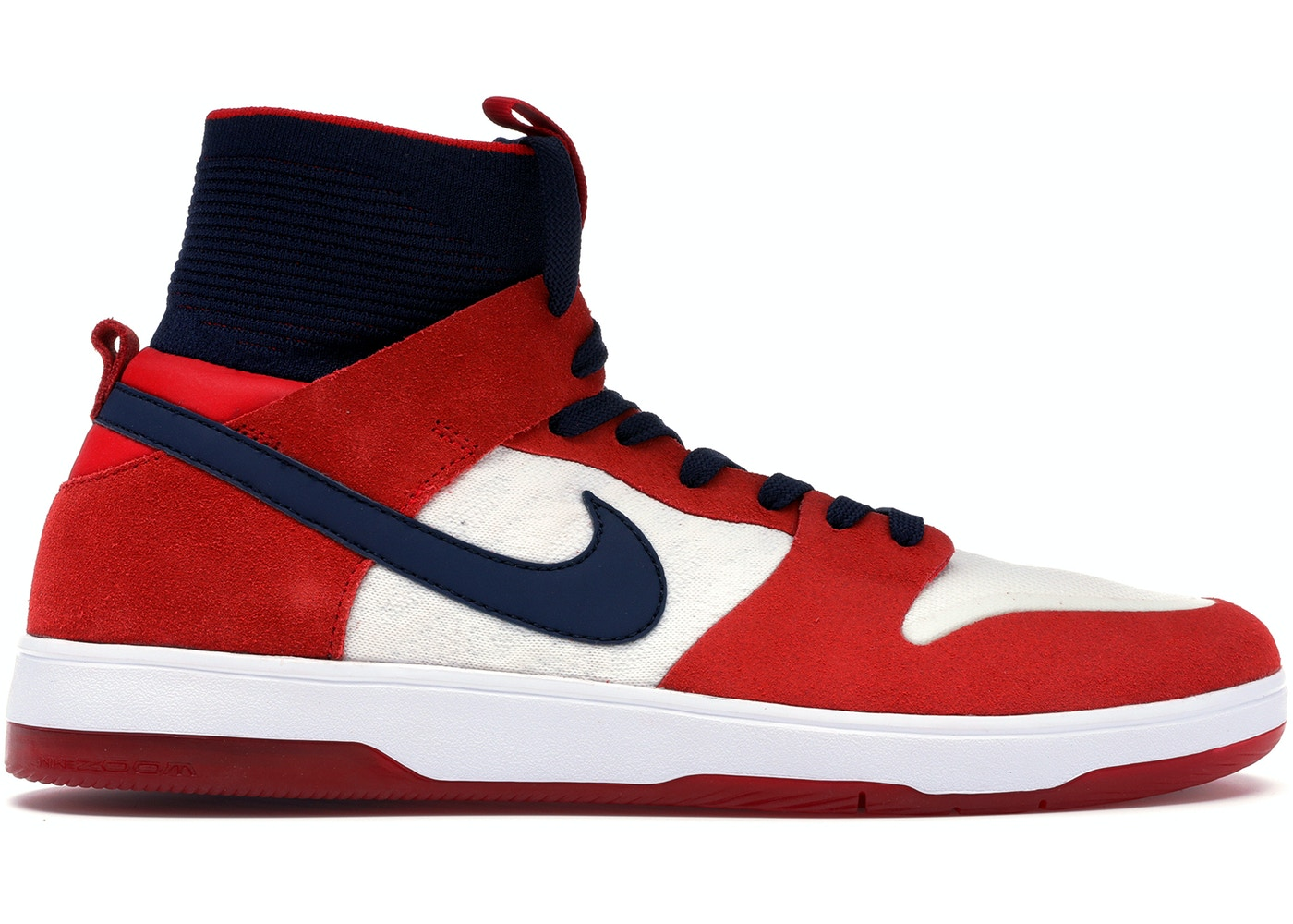 official photos 0f7ee cb507 Nike SB Dunk High Elite Red Navy White