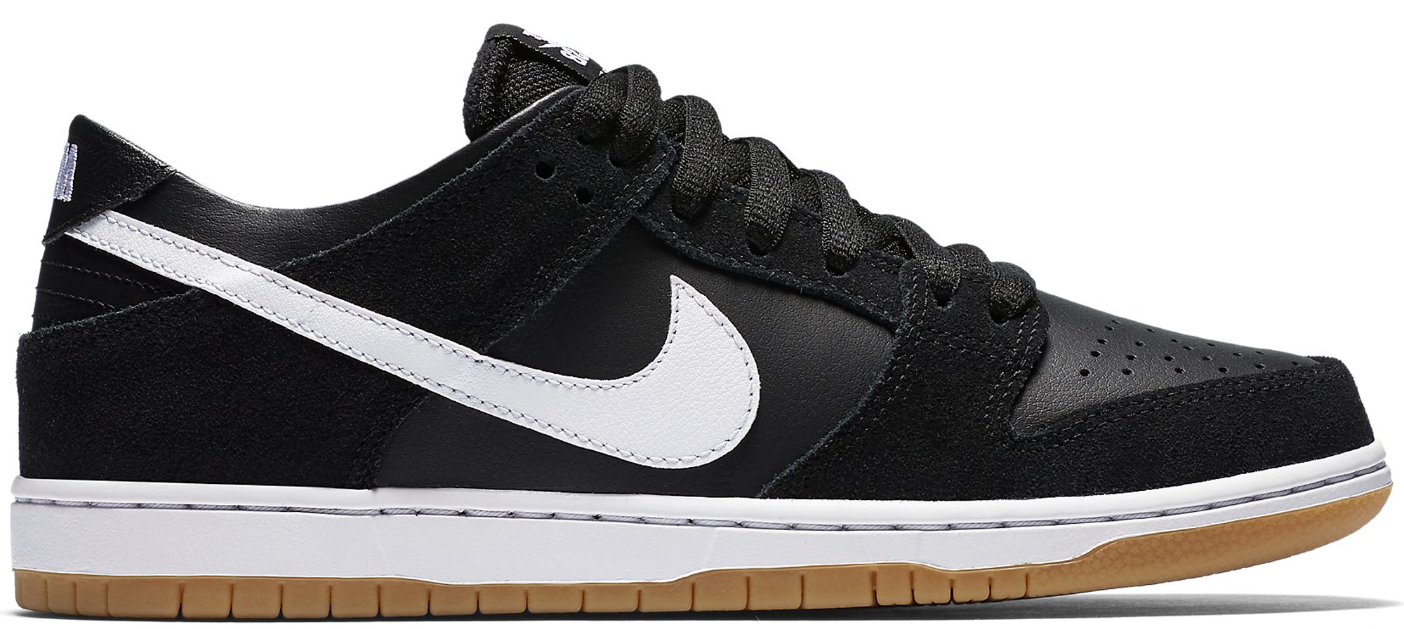 SB Dunk Low Black White Gum