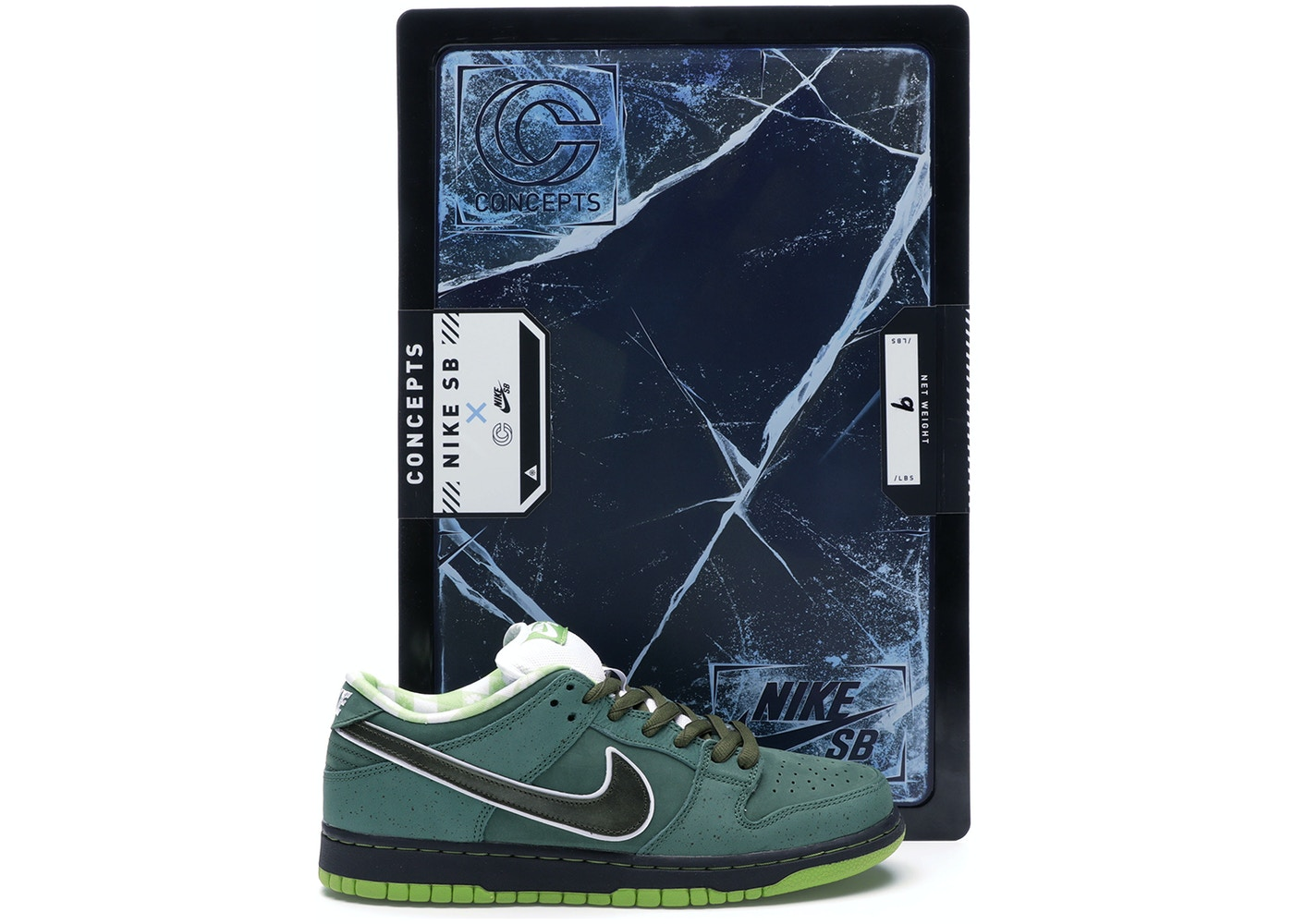 size 40 0acab cd68a Nike SB Dunk Low Concepts Green Lobster (Special Box)