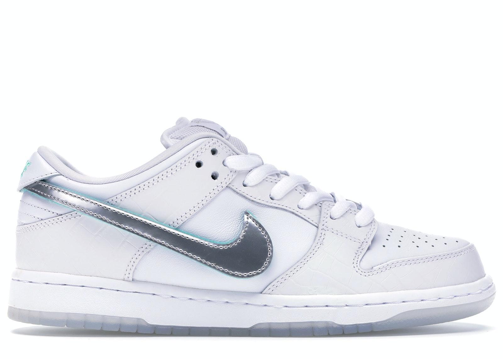 Nike SB Dunk Low Diamond Supply Co White Diamond