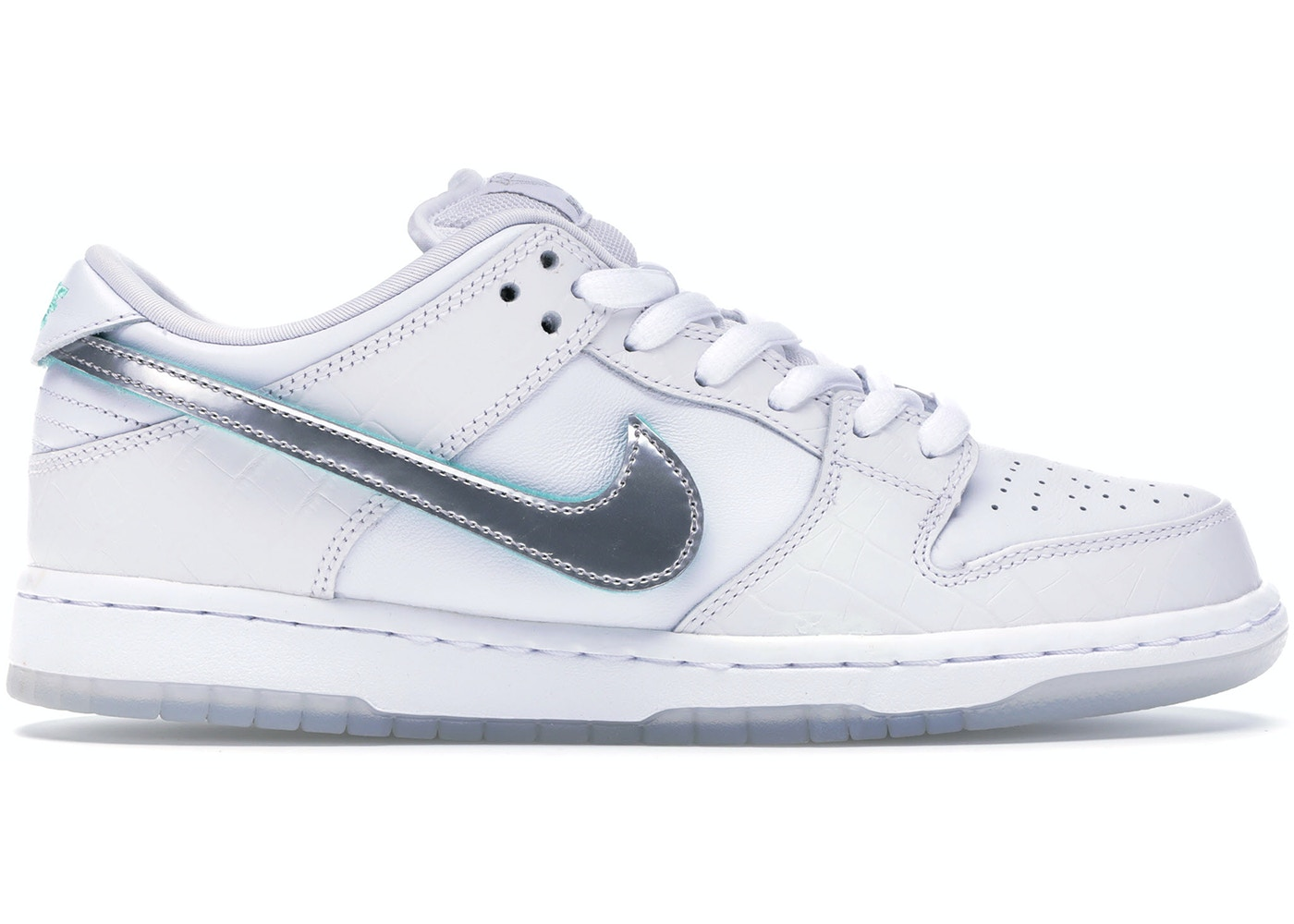 free shipping separation shoes low price sale Nike SB Dunk Low Diamond Supply Co White Diamond
