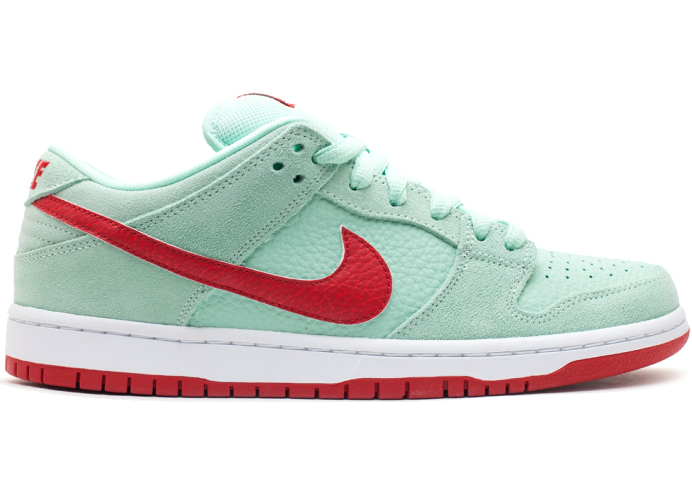 newest fc56d e4227 Nike SB Dunk Low Medium Mint Gym Red