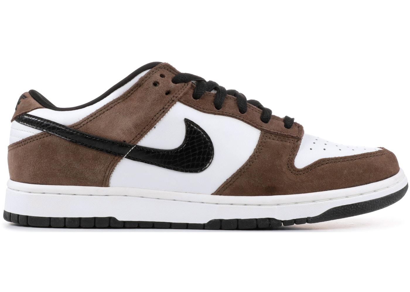 reputable site 8110b 36c86 Nike SB Dunk Low White Black Trail End Brown