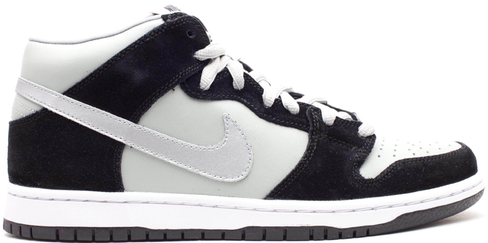 Nike SB Dunk Mid Black Silver - 314383-009