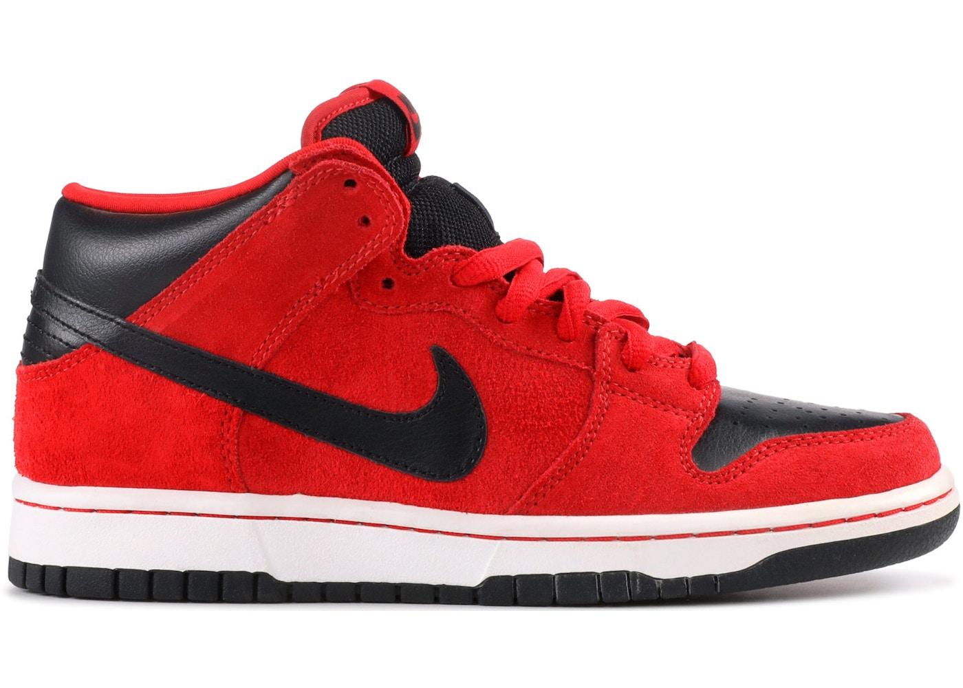 Nike SB Dunk Mid Sport Red Black - 314383-600