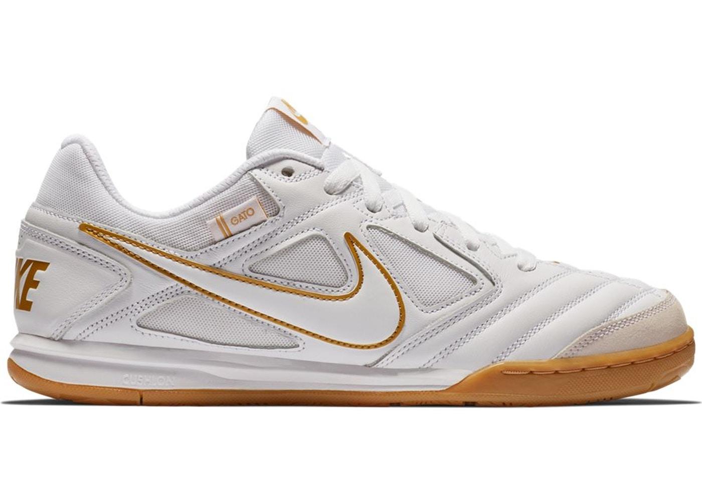 reputable site 625af 84855 Nike SB Gato White Metallic Gold