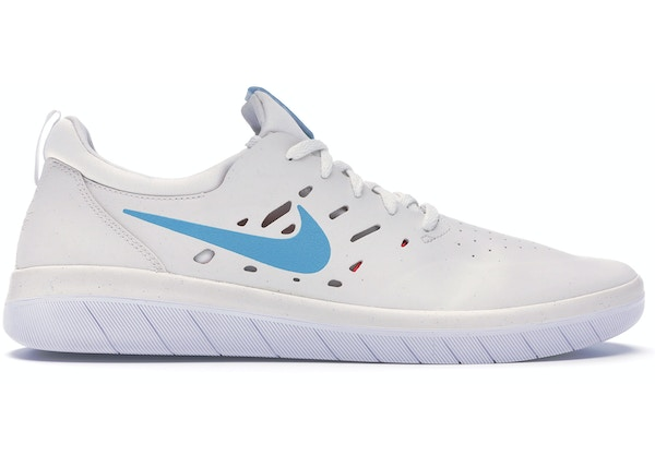 release date: c7ffc 7ef4a Nike SB Nyjah Summit White Light Blue Fury
