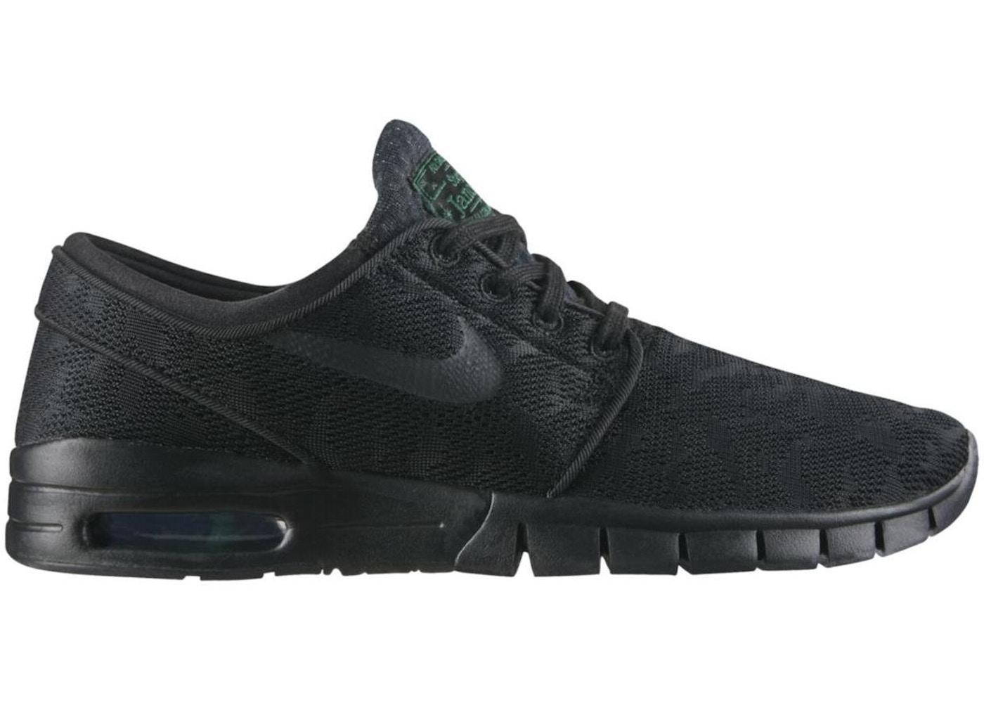 2a31853732 Nike SB Stefan Janoski Max Black Green - 631303-003