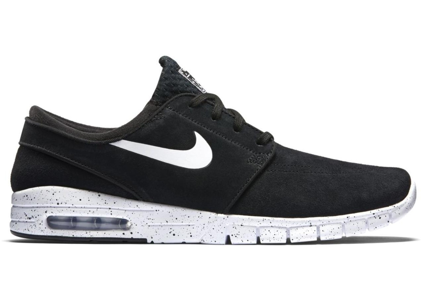 hot sales ccbbe 86270 Nike SB Stefan Janoski Max Leather Black White