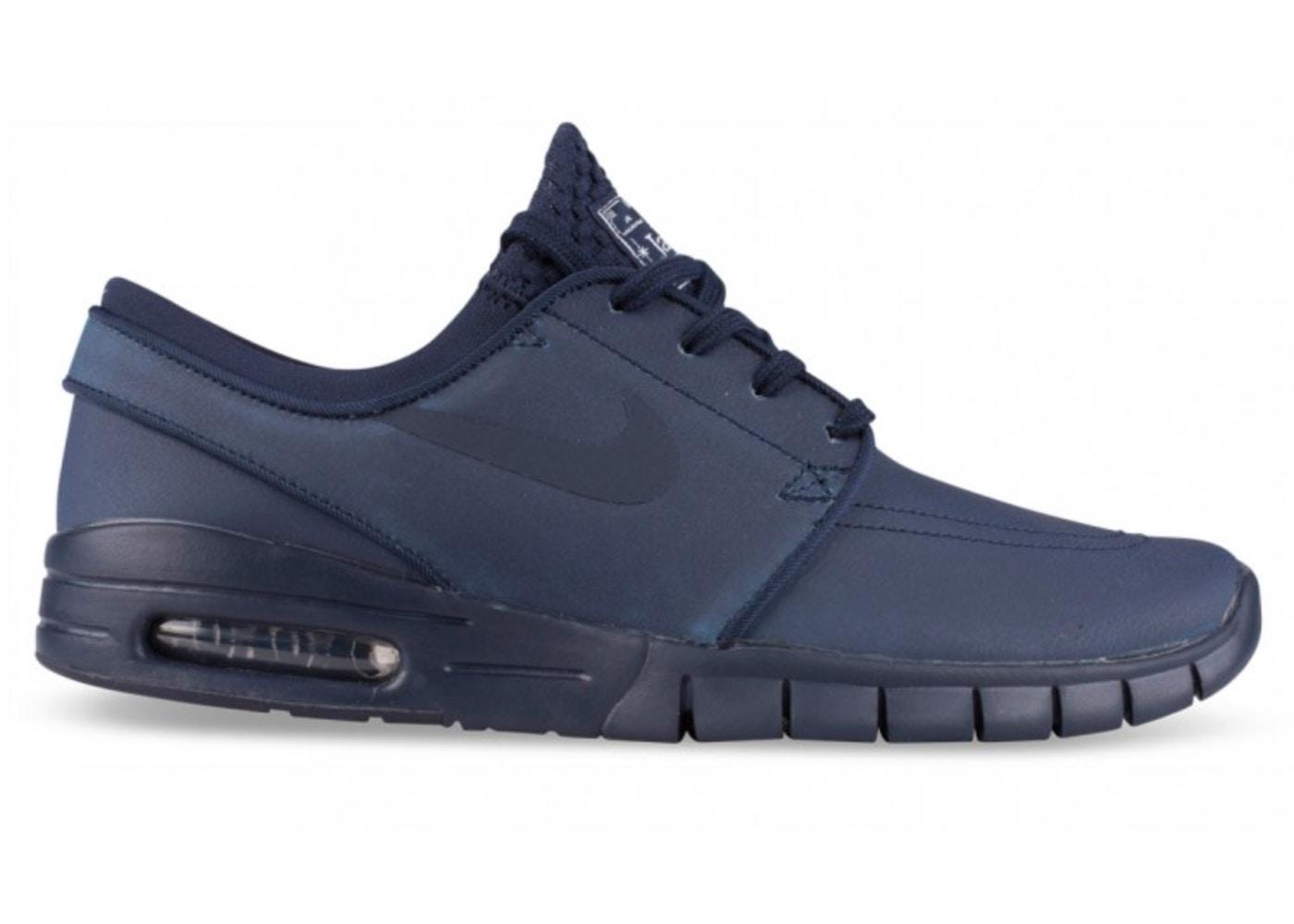 más baratas precio favorable mas fiable Nike SB Stefan Janoski Max Leather Obsidian - 685299-401
