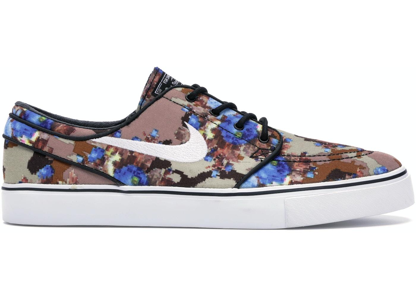 Nike Sb Stefan Janoski Zoom Digi Floral Blue 482972 904