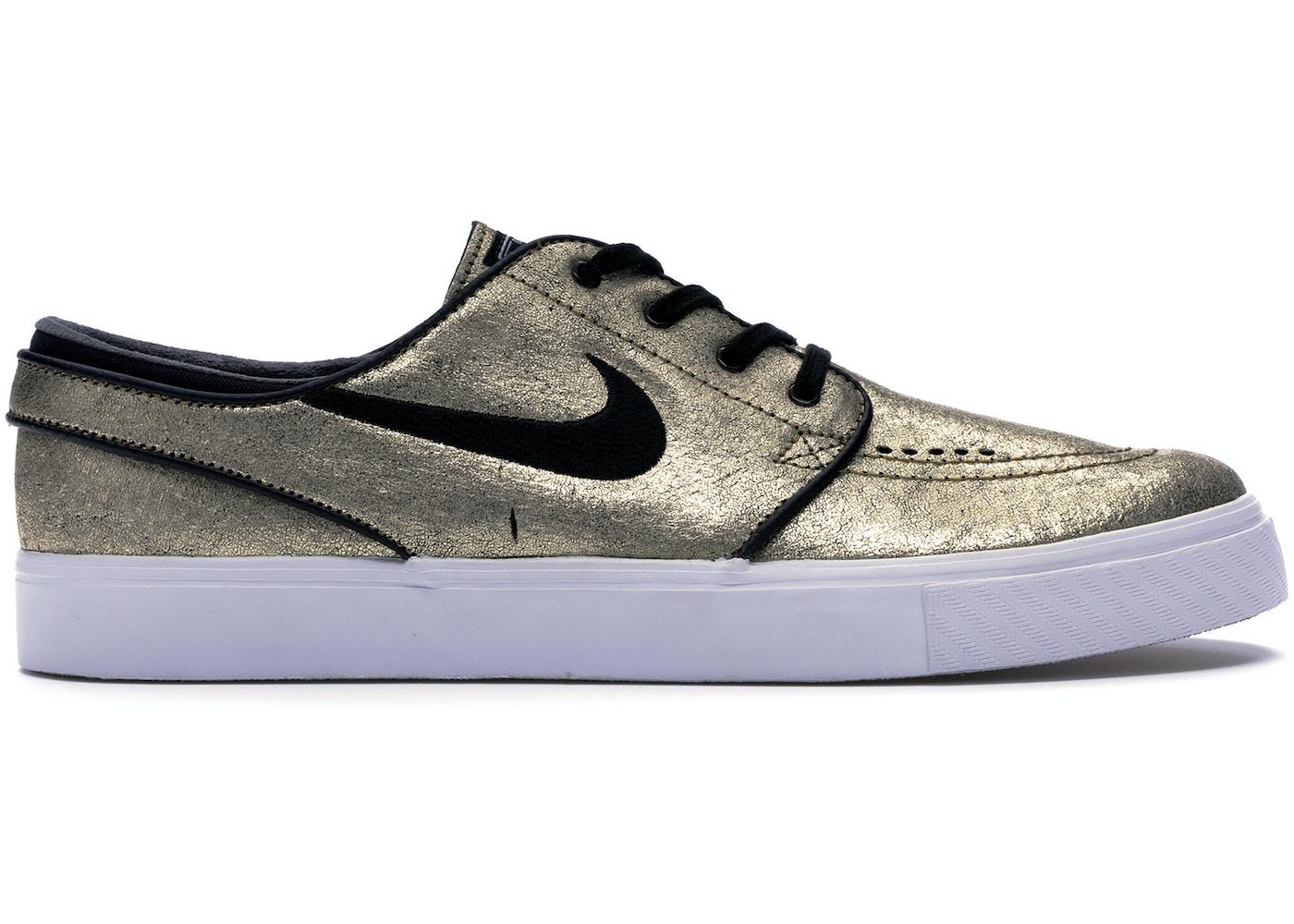 insertar República Chispa  chispear  Nike SB Stefan Janoski Zoom Leather Metallic Gold - 616490-702