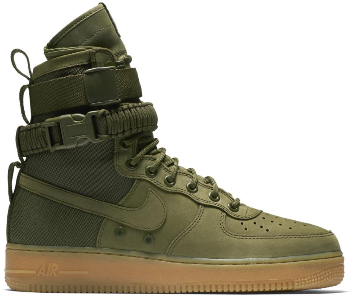 Nike Air Force 1 07 One Low LV8 Medium Olive Green Black Starfish BQ4326 200 | eBay