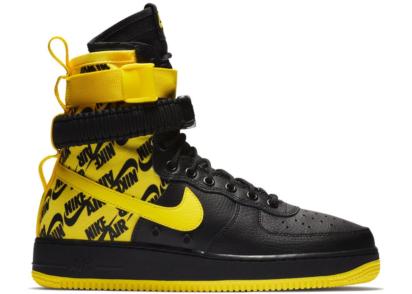 SF Air Force 1 High Black Dynamic Yellow