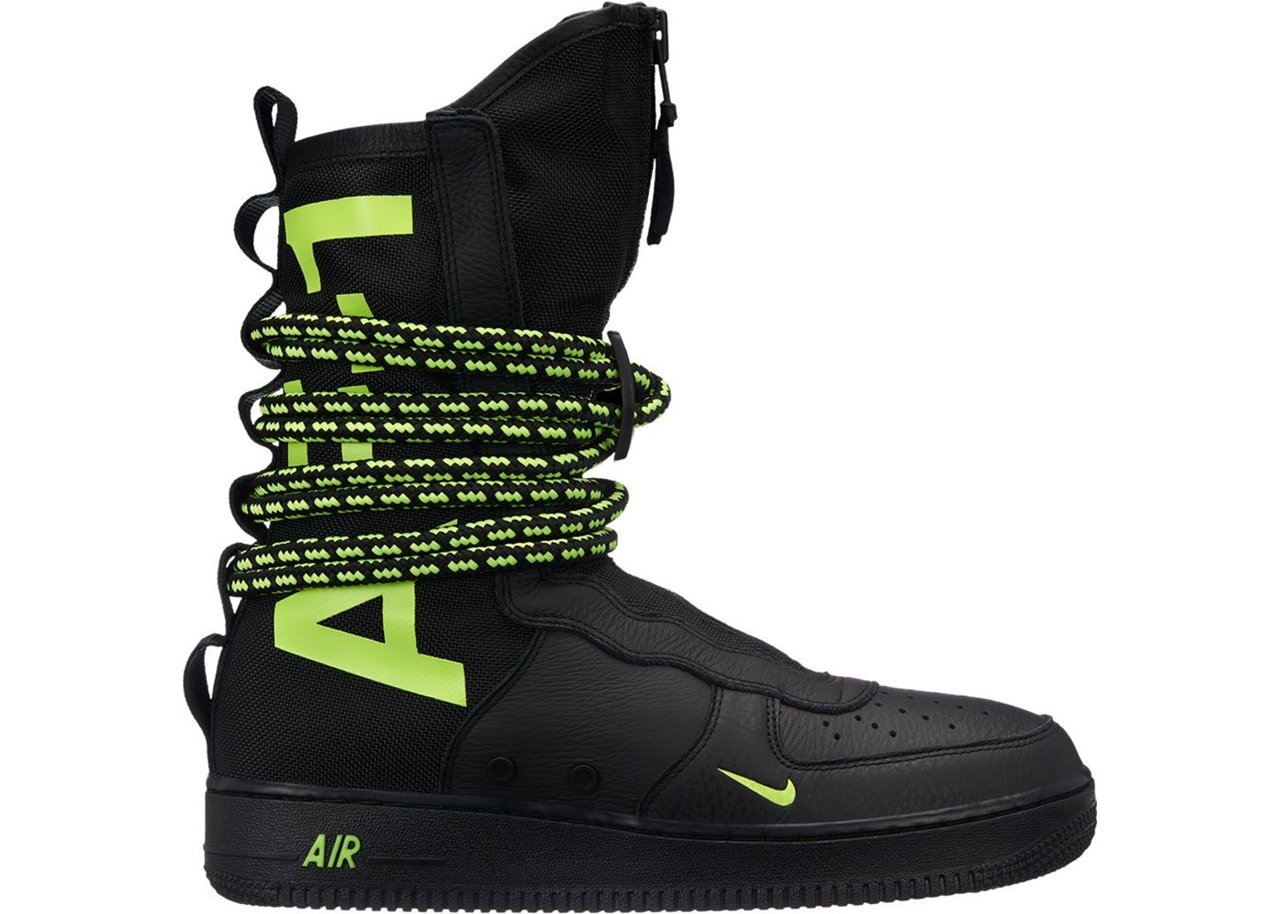 SF Air Force 1 High Black Volt