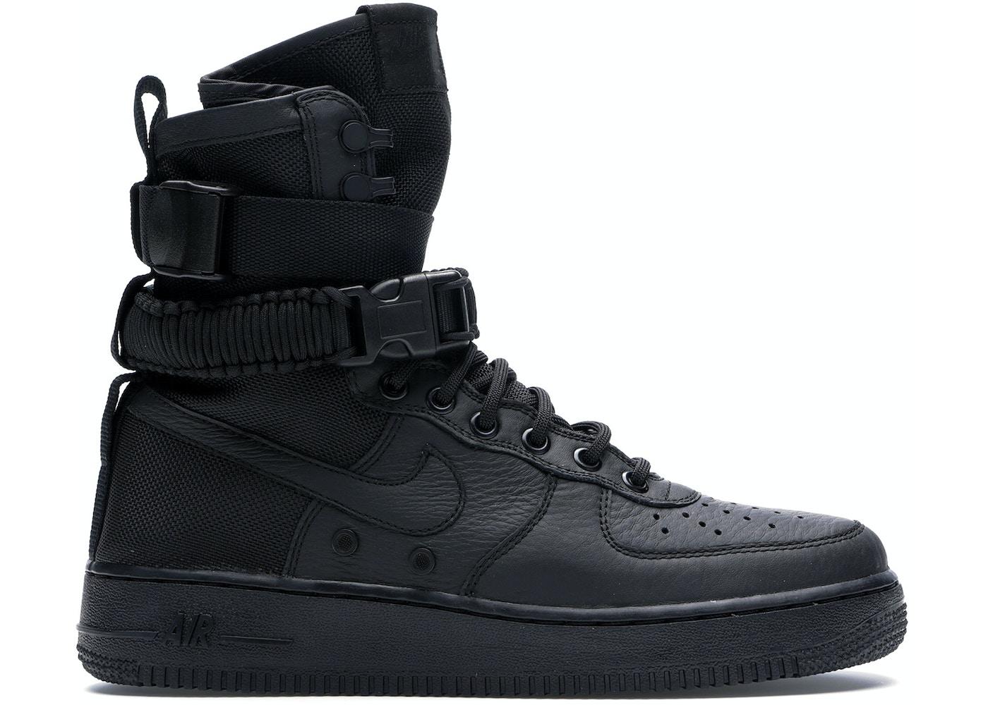 san francisco 3f33d d0226 Nike SF Air Force 1 High Triple Black - 864024-003
