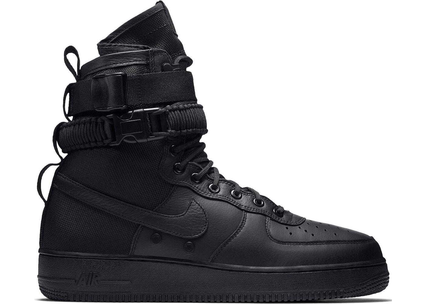 on sale 49a80 f723c nike air force 1 all black high