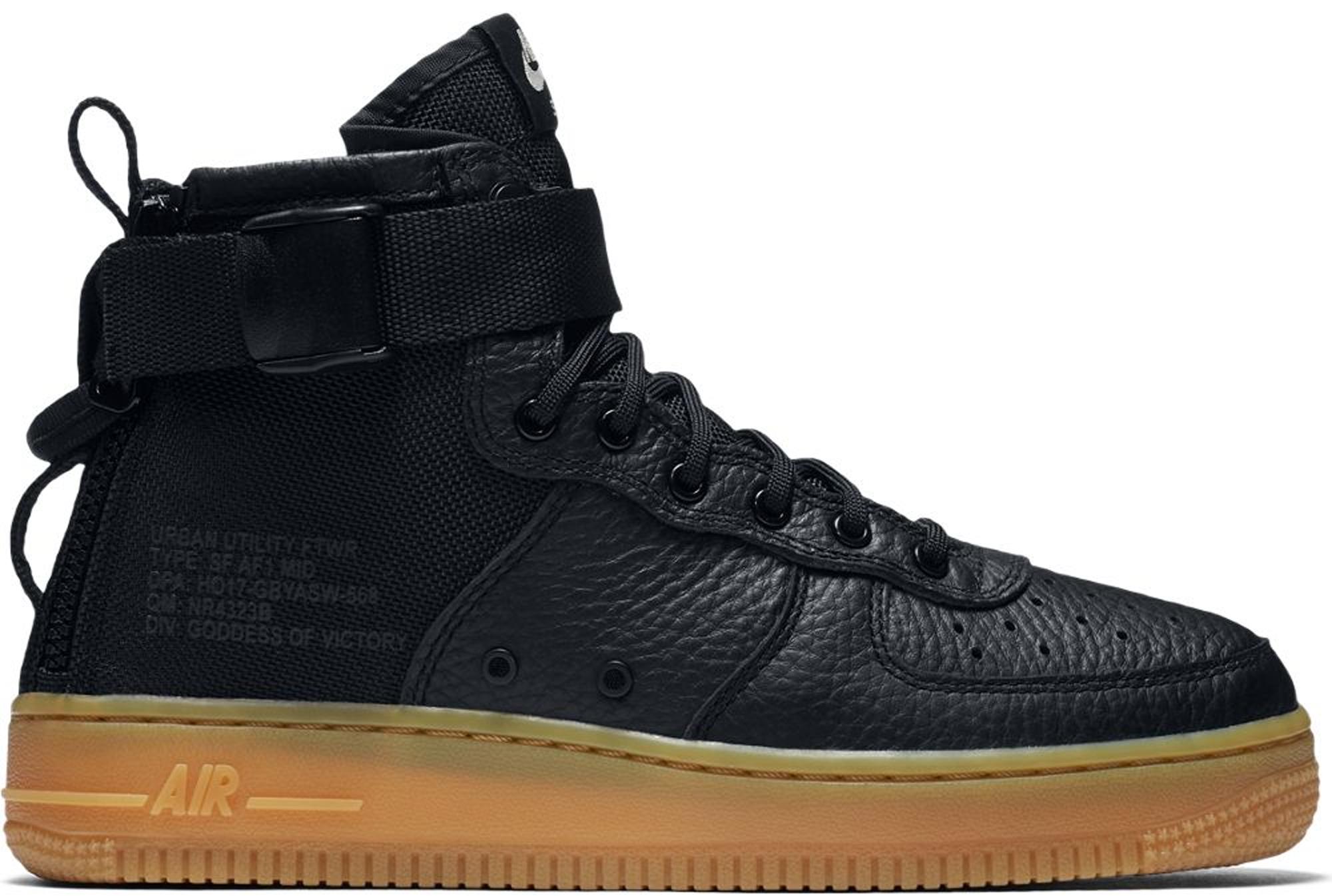 Nike SF Air Force 1 Mid Black Gum (GS