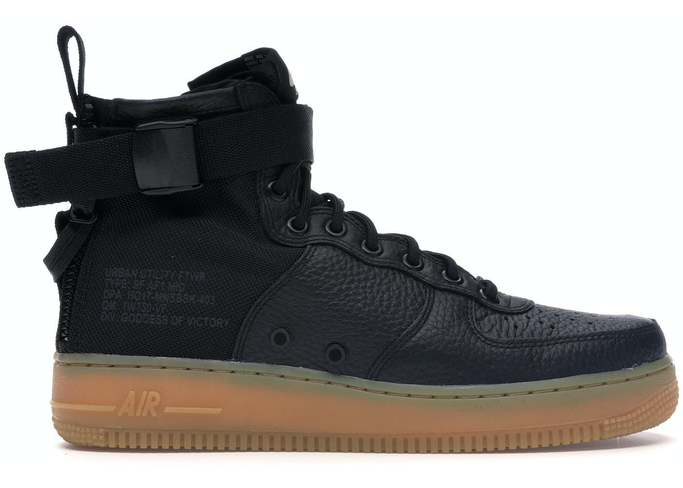 new product 967b6 62314 Nike SF Air Force 1 Mid Black Gum