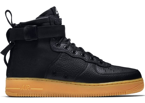 new product deee4 5c5eb Nike SF Air Force 1 Mid Black Gum