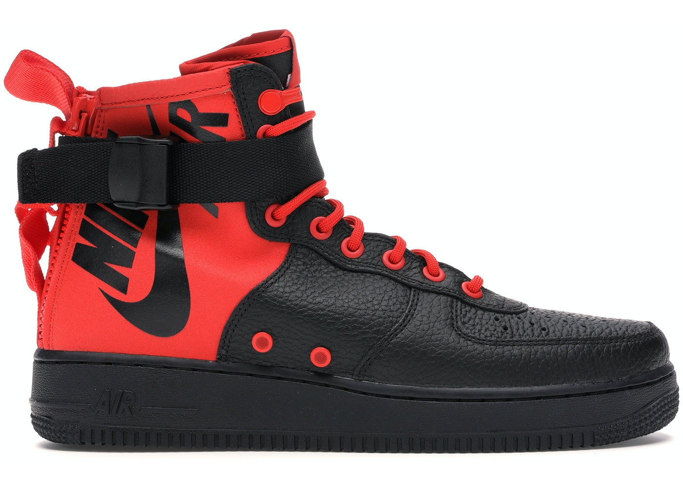 7667849b Sell. or Ask. Size: 12. View All Bids. SF Air Force 1 Mid Habanero Red Black
