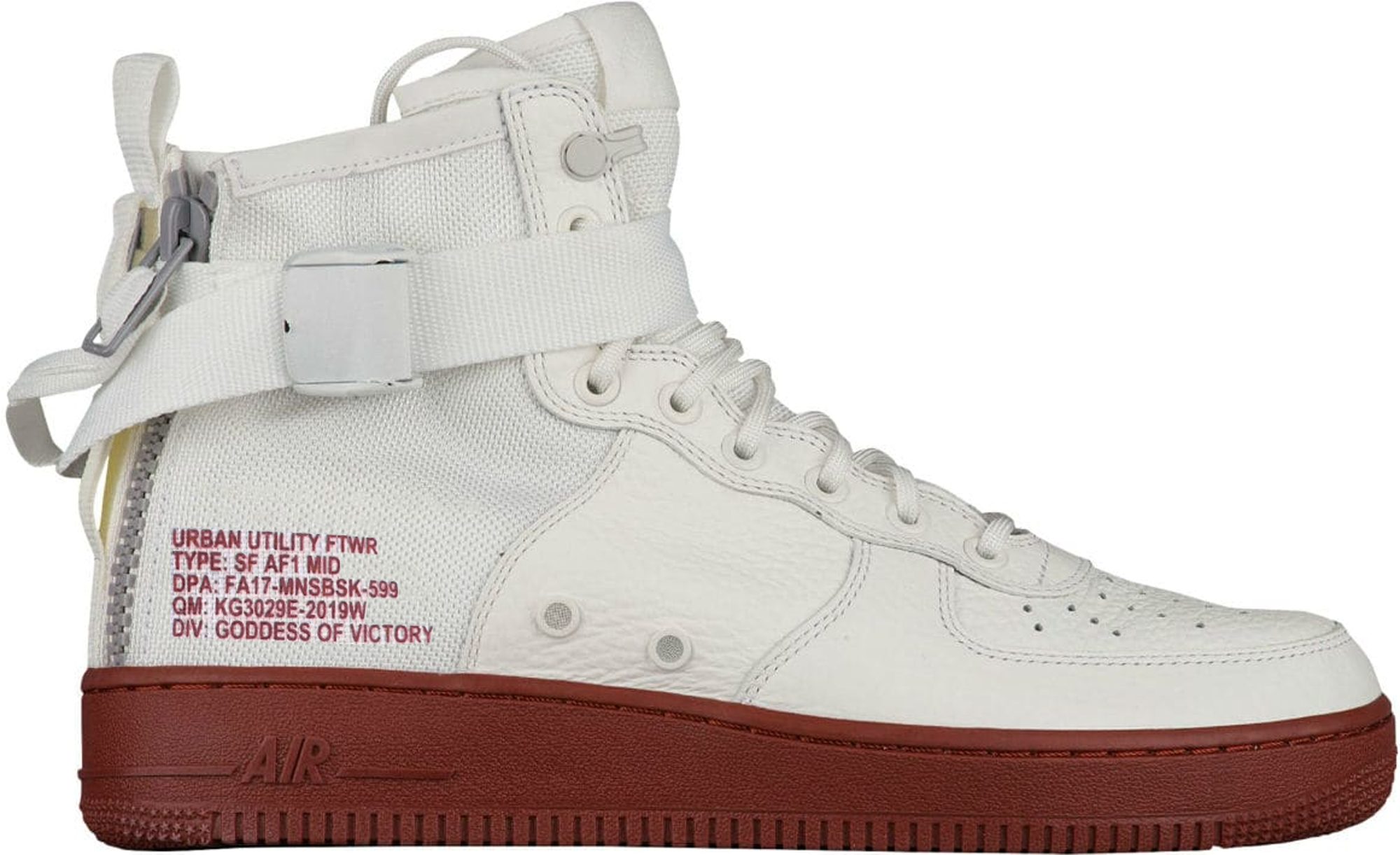 SF Air Force 1 Mid Ivory Mars Stone