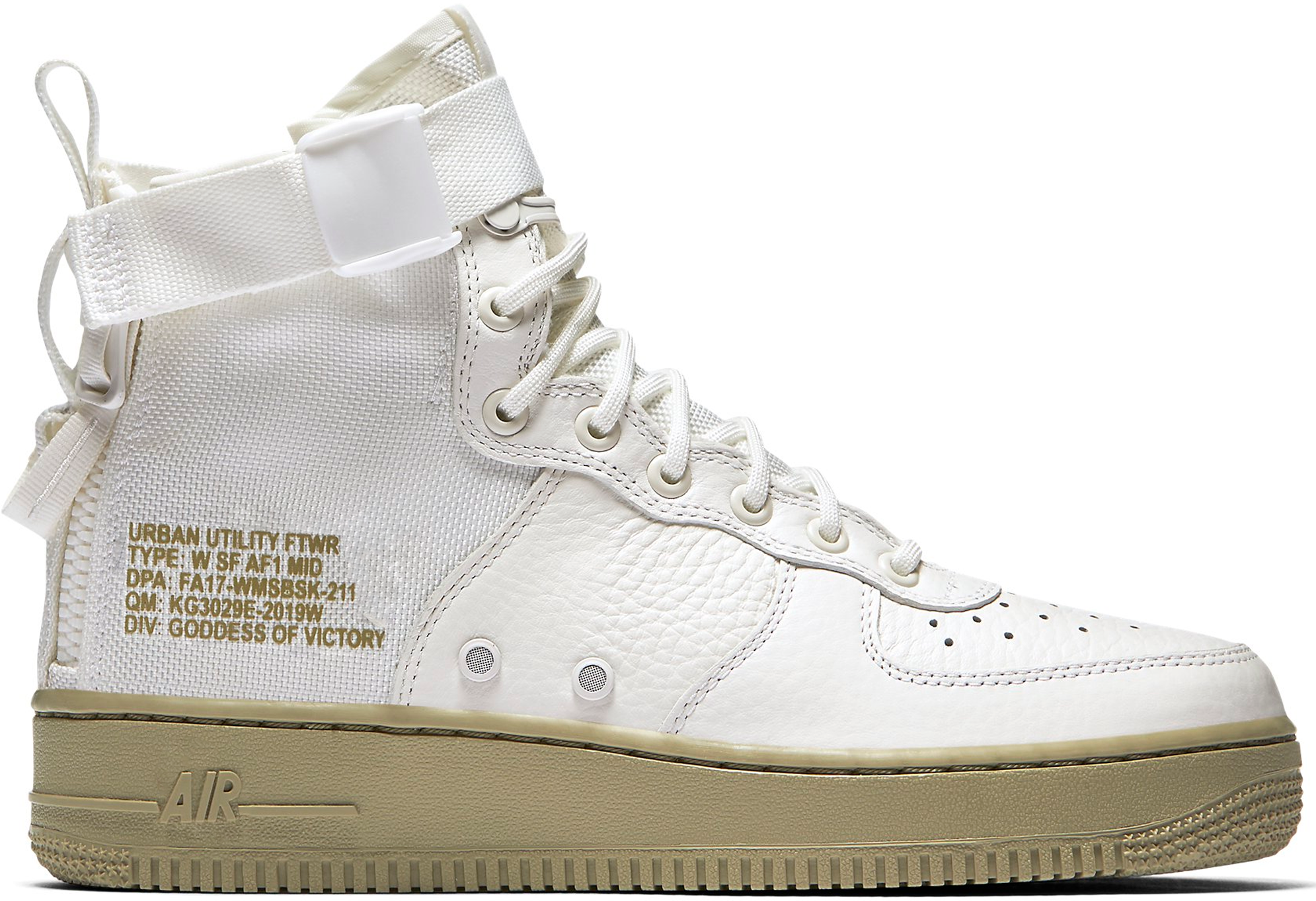SF Air Force 1 Mid Ivory Olive (W)