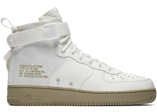 SF Air Force 1 Mid Ivory Olive